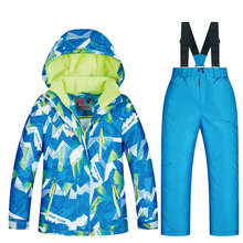 High Quality New Ski Suit For Boys Winter Windproof Waterproof Super Warm Snow Skiing And Snowboarding Jacket And Pants Brands