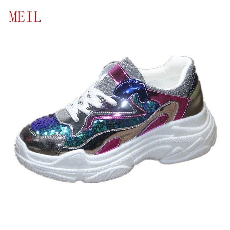 Baskets à plate-forme femmes chaussures décontractées femmes appartements formateurs dames plate-forme Espadrilles Zapatillas Mujer chaussures de Designer