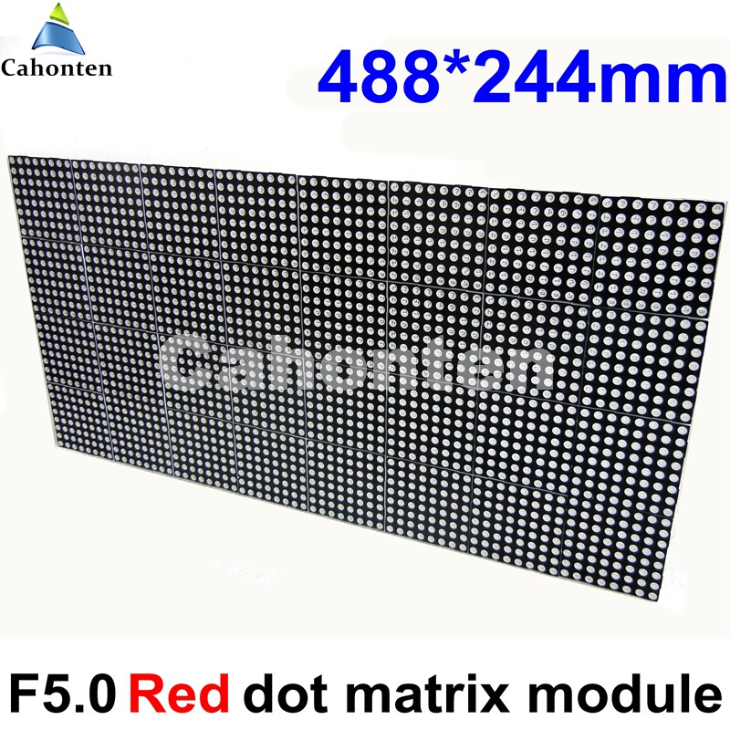 F5.0 P7.62 indoor red color 488mm*244mm 64*32pixels hub08 LED matrix module LED Sign Traffic Display High resolution board p7 outdoor dip full color led panel display module high resolution high brightness high refresh high quality