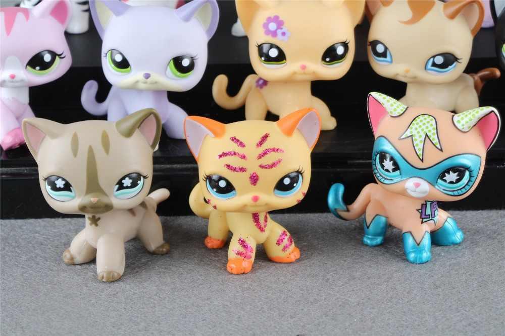 1 шт. Littlest pet Коллекция Рисунок короткие волосы кошка котенок животные детские свободные милые игрушки