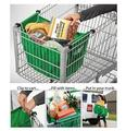 Smartlife 2pcs/lot Grocery Shopping Bag Reusable Grab Bags Inslulated Tote Foldable Supermarket Holds Up To 40 lbs Storage Bags