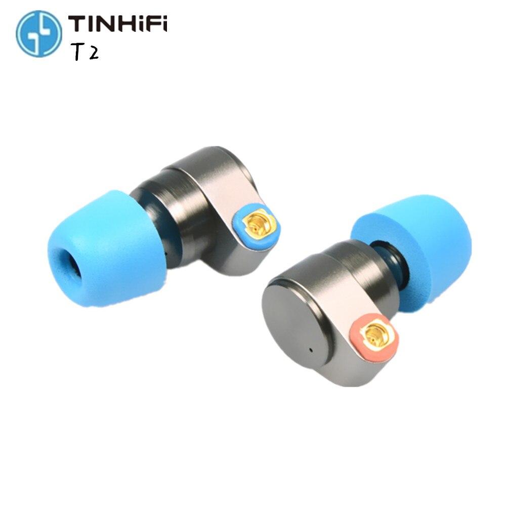 ÉTAIN Audio T2 écouteurs double dynamic drive hi-fi basses écouteurs DJ métal 3.5mm boules quies écouteur avec MMCX écouteurs T2 PRO \ TFZ \ AS10