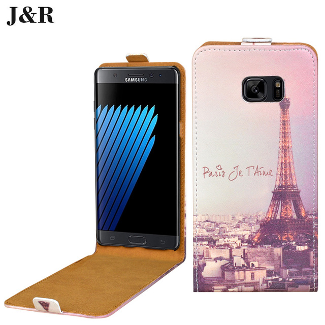 For Galaxy SM-N930F Cover Vertical Manetic Leather case for Samsung Galaxy note 7 N930FD 32gb Dual Sim cover&printing protective