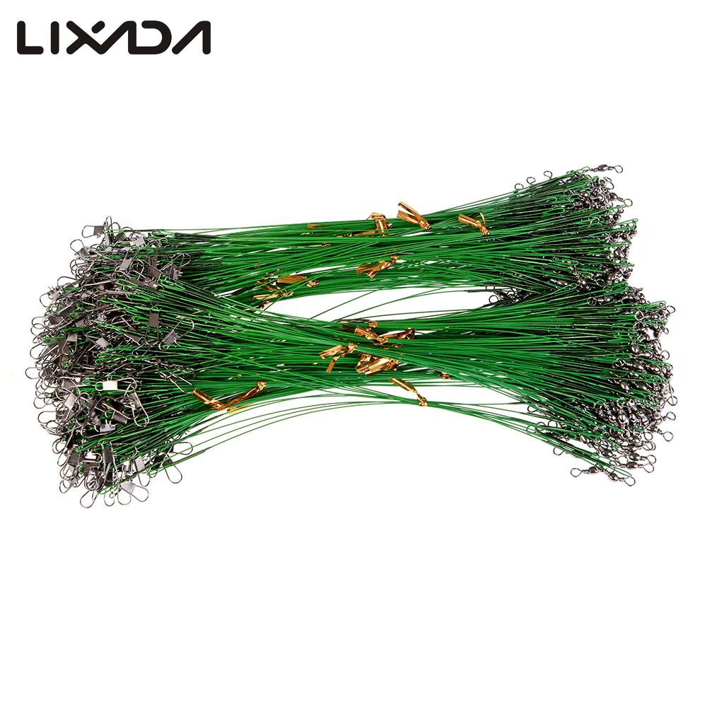 Lixada 10/15/20/25cm  Fishing Wire Rig with Snap and Swivels 10 pcs/lot Fishing Tackle Lures High Strength  Stainless Steel