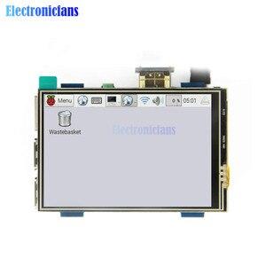 Image 1 - 3.5 inç fiziksel çözünürlük 480x320 LCD ekran modülü LCD HDMI USB dokunmatik ekran gerçek HD 1920x1080 ahududu 3 Model B