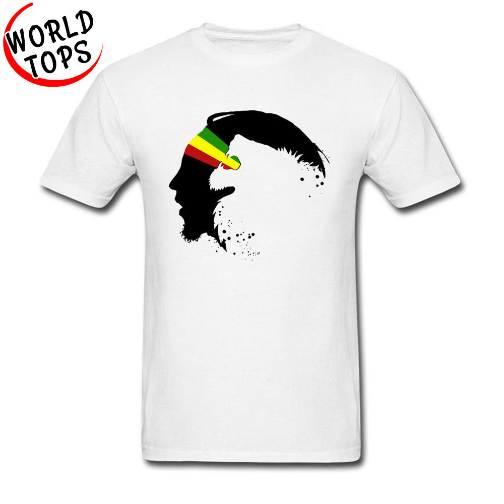 Newest T Shirt Mens Black Profile Rasta Lion In Zion Graphic Tshirt On Sale Gay Pride White Tees For Adult 2018 Fashion