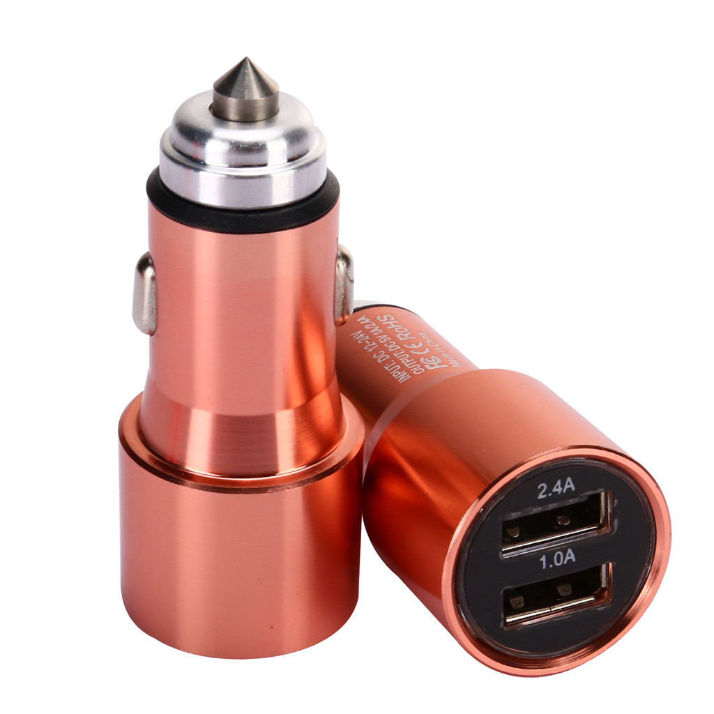 Charger Adapter Car-Charger For Mobile Phone 5V/2.4A/1A Quick Charge Mobile phones, tablets Dual USB Port Adapter  for PhoneY514