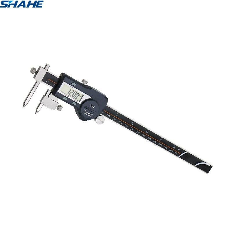 shahe 5 200 mm vernier caliper digital center thickness gauge caliper micrometer steel digital caliper paquimetro