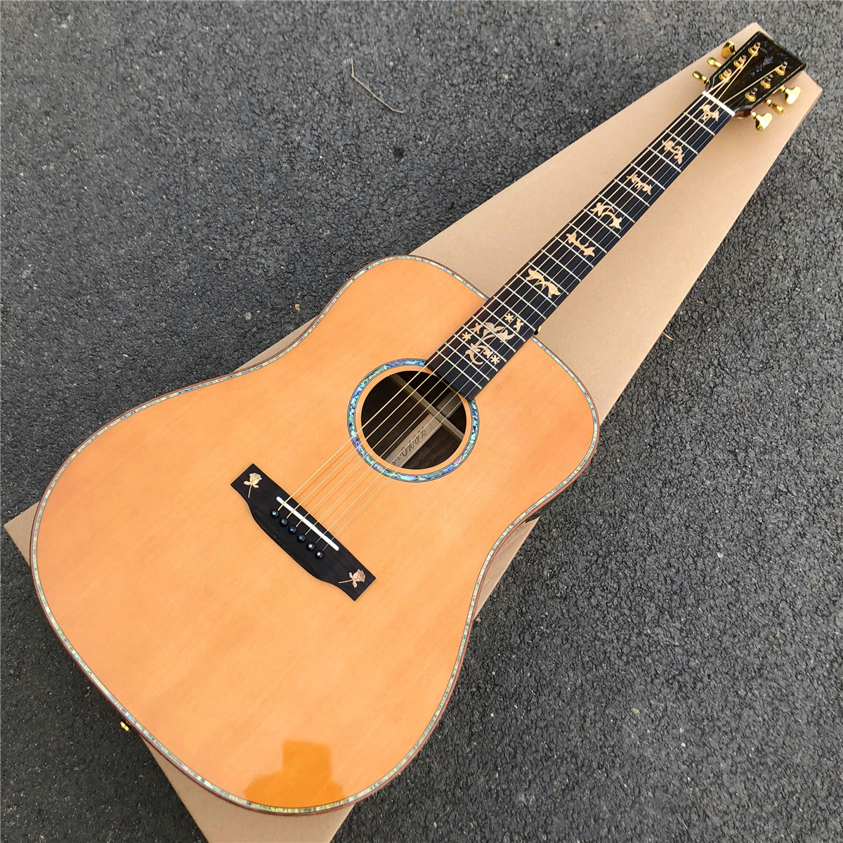 Custom Acoustic Guitar Tuners : zore solid cedar top d style acoustic guitar 2019 new custom electric acoustic guitarra gold ~ Hamham.info Haus und Dekorationen