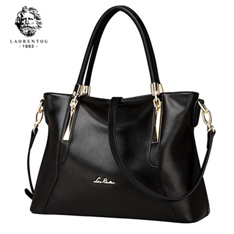 LAORENTOU Women Bags Luxury Ladies Cowhide Leather Handbags Casual Women s Bags Shoulder Bag Crossbody Bags