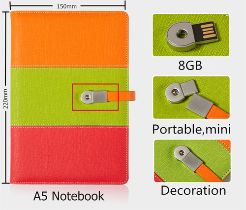 110*220 cm Multifuncional Notebook USB 2.0 Flash Drive do Cartão de Papel Notebook