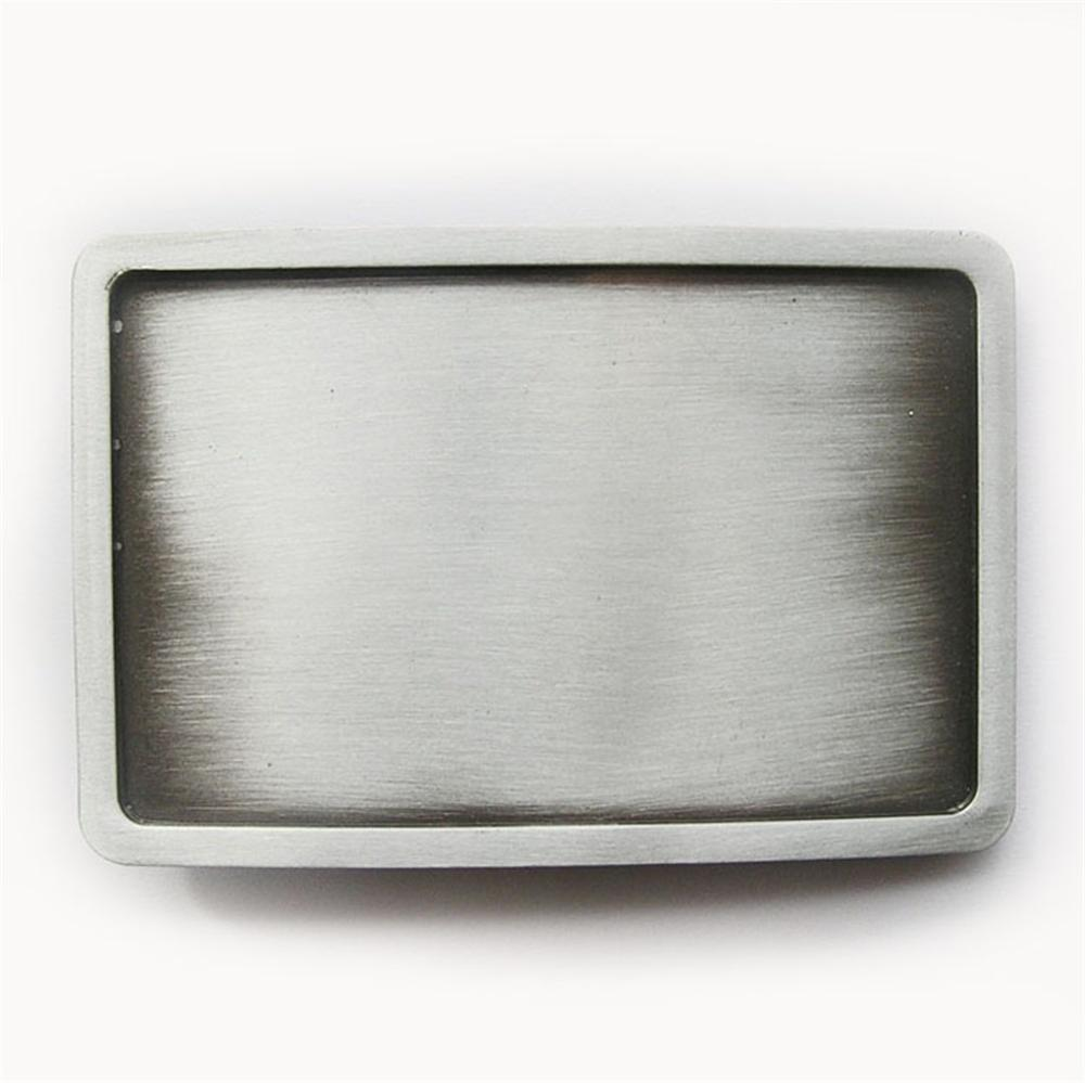 Classic New Antique Brushed Silver Rectangle Blank Belt Buckle Custom Belt Buckle also Stock in US