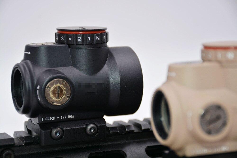 Rouge Dot Reticle Holographique Vue Triji MRO style Pistolet Fusil optique Pour Airsoft Noir Bas Montage + QD Montage Avec En Plastique Cadeau boîte