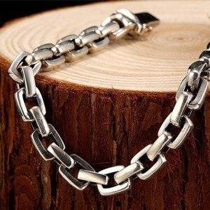 Image 5 - Мужской винтажный браслет ZABRA, браслет из настоящего серебра 925 пробы с крестом, толщина 7 мм, длина по индивидуальному заказу, ювелирные изделия