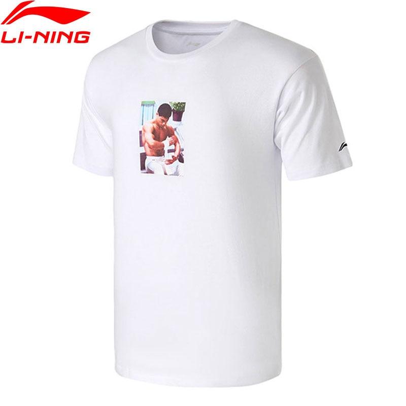 T-Shirt homme li-ning NYFW m. Li OG T-Shirt imprimé 100% coton doublure Sport T-shirts T-Shirt AHSN737/AHSN695 MTS2759