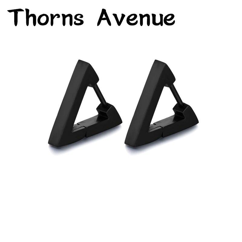 Schmuck & Zubehör Ohrringe Dornen Avenue Mode 1 Paare/los 3 Farben Dreieck Form Edelstahl Männer Nicht-allergie Punk Hoop Ohrringe Für Männer Frauen