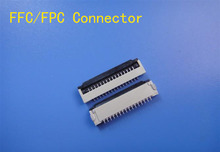 10pcs FFC / FPC connector 1.0 mm 4 Pin 5 6 7 8 10 12 14 16 18 20 22 24 26 18 30 P Bottom Contact Right angle SMD / SMT ZIF fpc