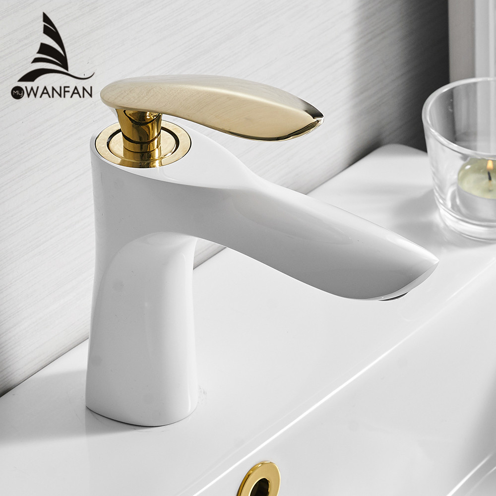 Basin Faucets Elegant Bathroom Faucet Hot and Cold Water Basin Mixer Tap Chrome Finish Brass Toilet Sink Water Crane Gold R220