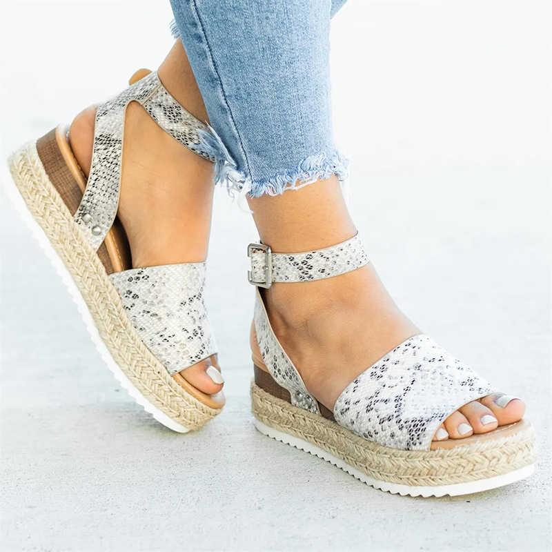 2019 nieuwe vrouwen sandalen platform schoenen zomer mode platte schoenen vrouwen sandalen
