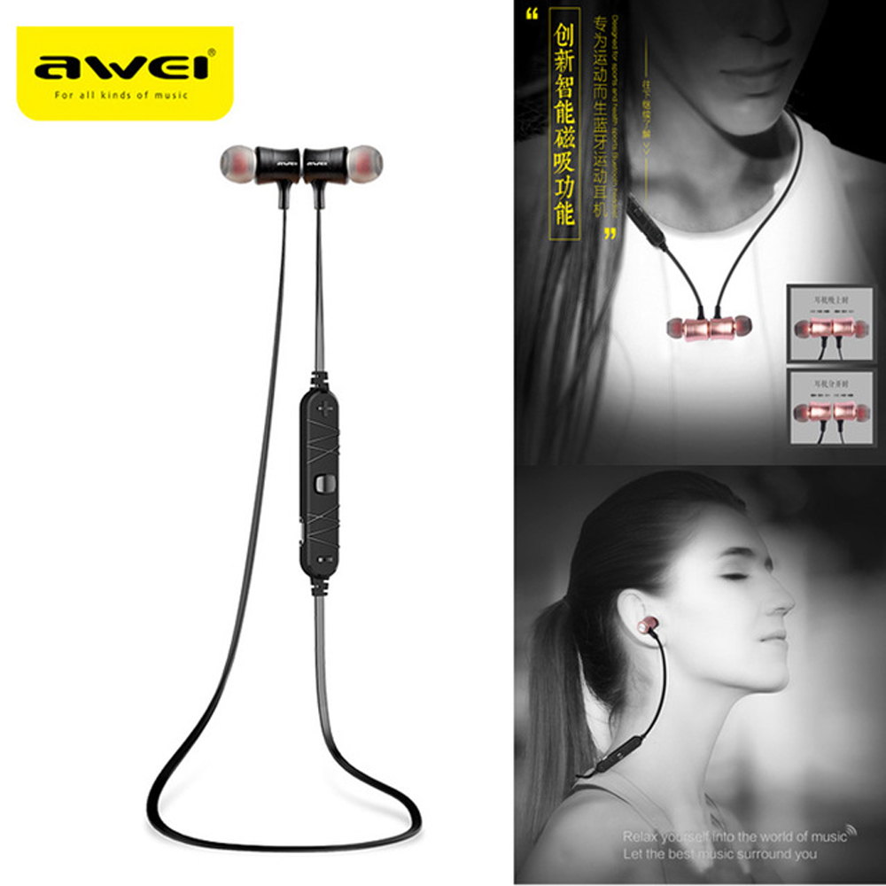 Awei A921BL Sport Blutooth Cordless Earbuds Earpiece Wireless Headphone Headset Auriculares Bluetooth Earphone For Ear Phone Mic awei headset headphone in ear earphone for your in ear phone bud iphone samsung player smartphone earpiece earbud microphone mic