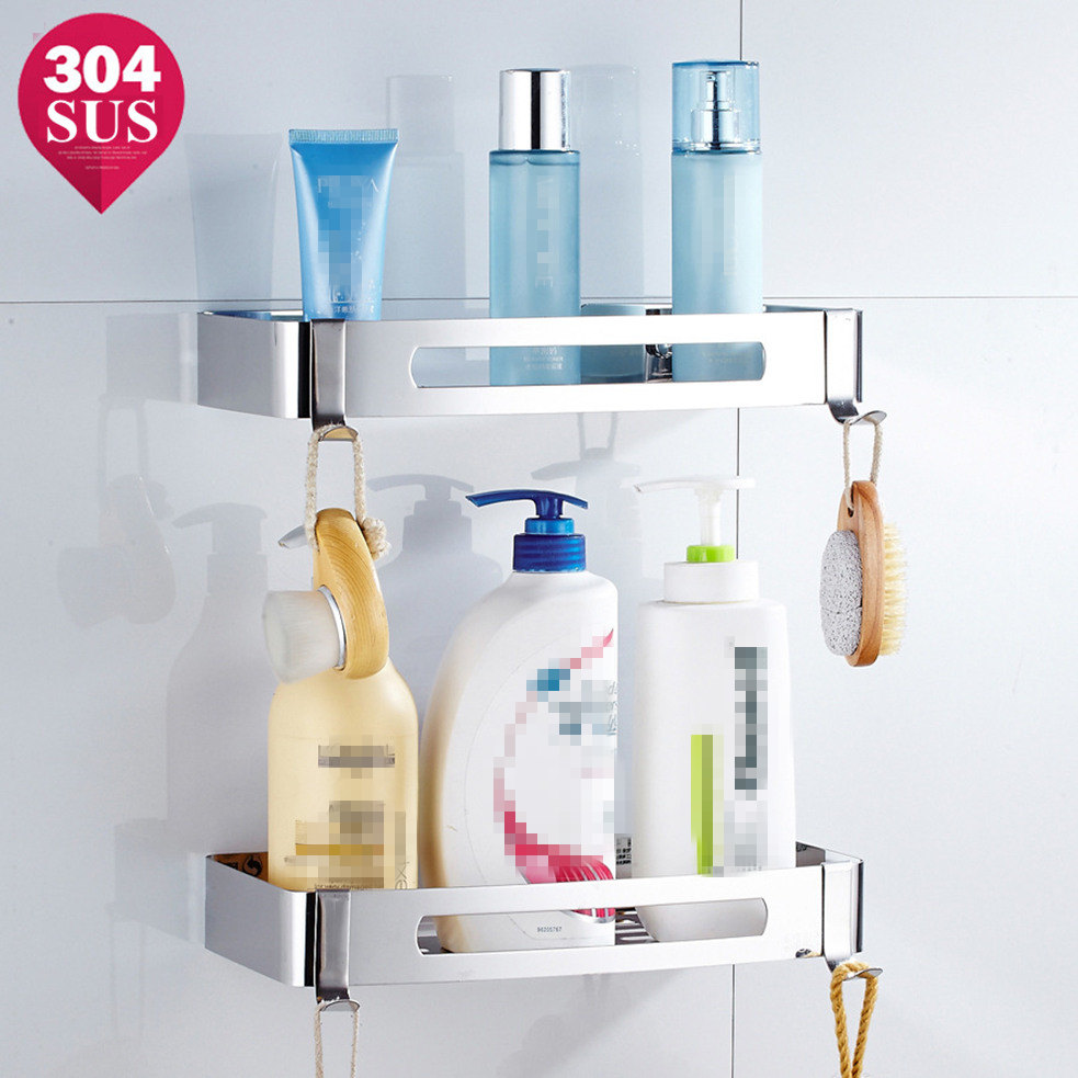 Shower Caddy Bathroom Cube Shelf Floating Shelves Storage Basket Holder  Stainless Steel Etagere Salle De Bain Murale Repisa