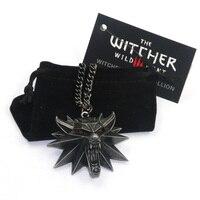 New Wizard witcher huy chương wolf head mặt dây chuyền vòng cổ the witcher 3 hoang dã hunt mặt dây chuyền witcher vòng cổ EL002