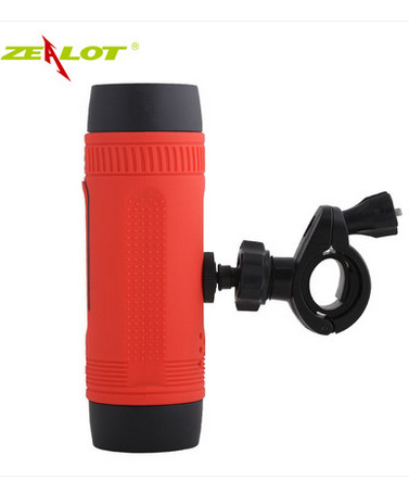Zealot S1 Bluetooth Speakers Outdoor Portable Bicycle Subwoofer Speakers 4000mah Power Bank LED light bike mountian