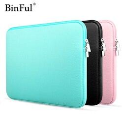 BinFul 11 12'' 13 14 15 15.6 محمول حقيبة كم حالة غطاء لديل سامسونج آسوس أيسر توشيبا سطح برو Ultrabook دفتر