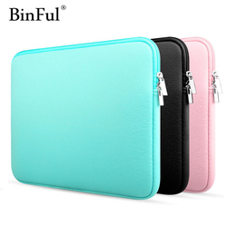 BinFul 11 12'' 13 14 15 15.6 Laptop bag Sleeve case capa para Dell Samsung asus Acer Toshiba Superfície Pro Ultrabook Notebook