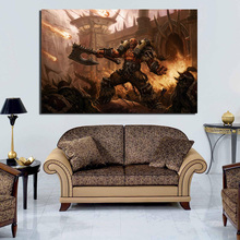 World Of Warcraftes Garrosh Canvas Painting Prints Living Room Home Decoration Artwork Modern Wall Art Posters Pictures