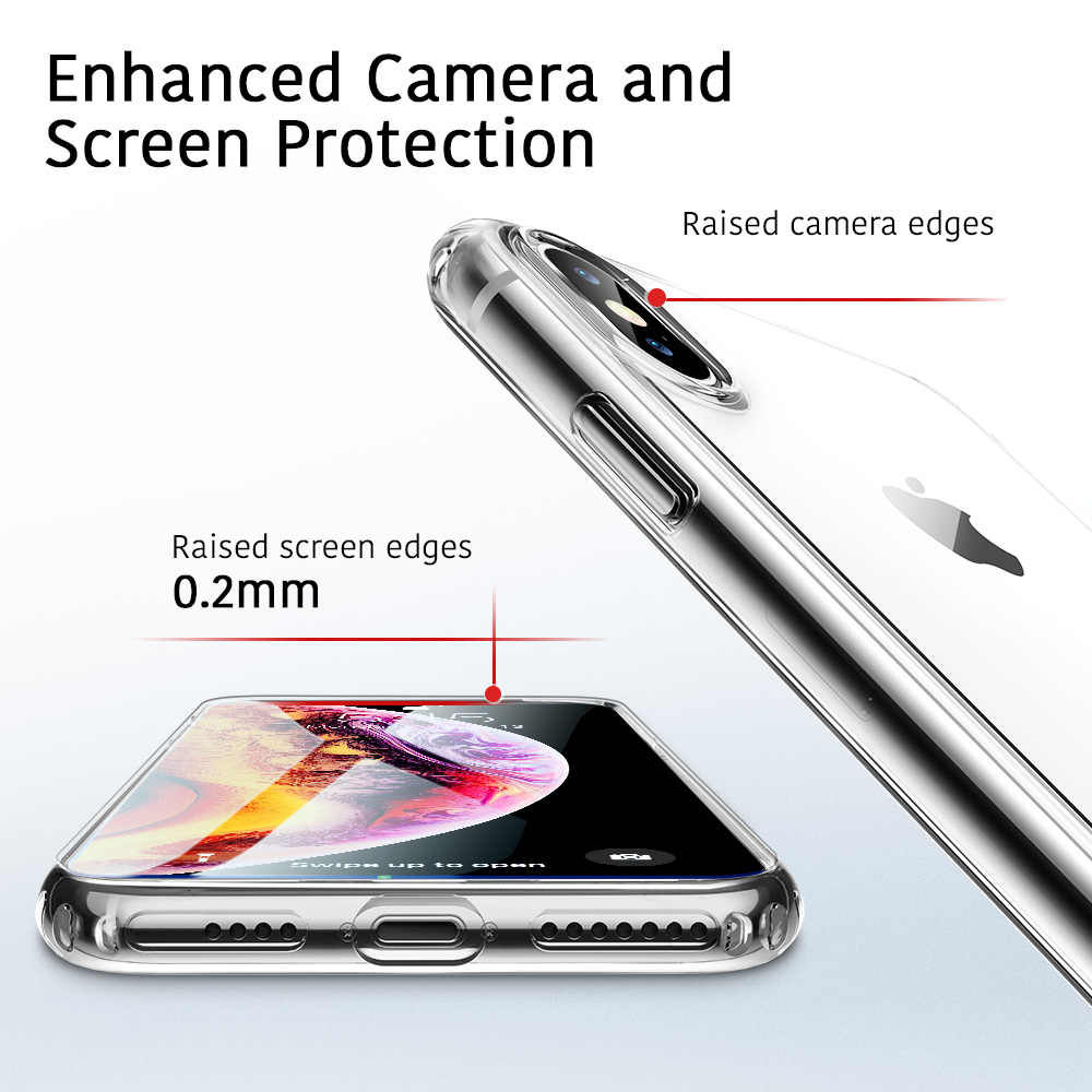 sports shoes 82917 ec8ca ESR Case for iPhone XS XR XS Max Transparent Cover Bumper Clear Soft TPU  Case Ultra Thin Cover Anti-Knock Coque Case for iPhone