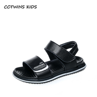 CCTWINS KIDS 2018 Summer Boy Fashion Soft Beach Sandal Children Genuine Leather Shoe Baby Brand Black