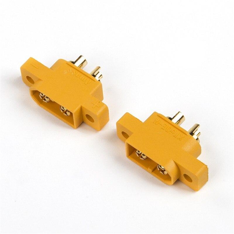 XT60E-M монтируемый XT60 штекер разъем для моделей RC Мультикоптер TSCA домашний аккумулятор кабели Разъемы ST60E-M штекер