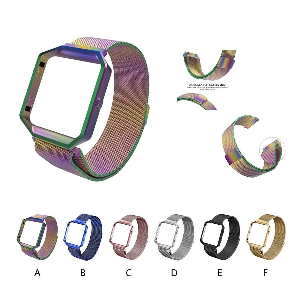 Milanese Magnetische Edelstahl armbanduhr Band Strap Rahmen Für Fit ...