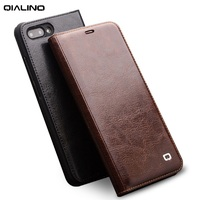 QIALINO Luxury Genuine Leather Slim Flip Case for Huawei Honor 10 Stylish Handmade Cover with Card Slot for Honor 10 5.84 inch