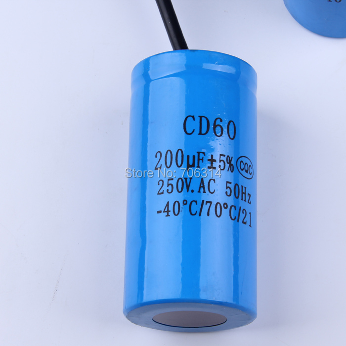 Staring Capacitor Cd60 200uf Heavy Duty Electric Motor