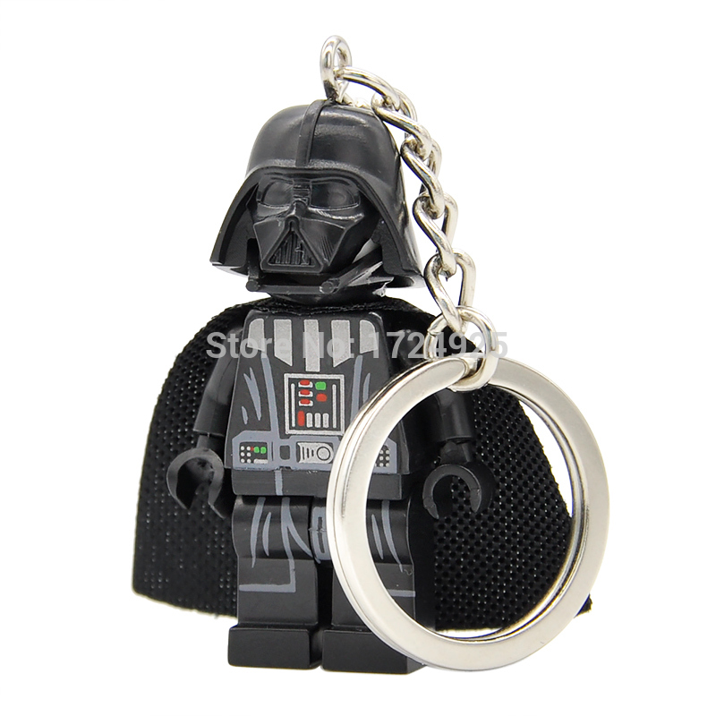 Star Wars Darth Vader Keychain Figure Starwars Anakin Custom Ring DIY Handmade Key Ring Chain Building Blocks Toys all characters tracer reaper widowmaker action figure ow game keychain pendant key accessories ltx1