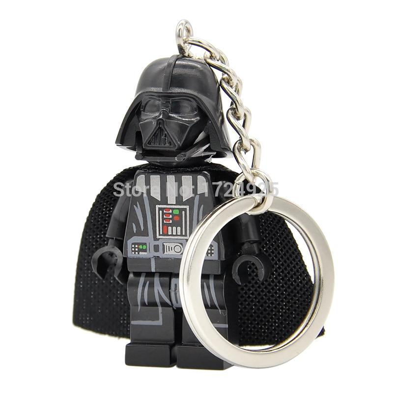 Star Wars Darth Vader Keychain Figure Starwars Anakin Custom Ring DIY Handmade Key Ring Chain Building Blocks Toys