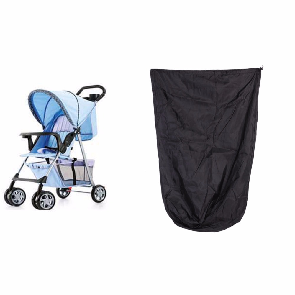 все цены на 1Pcs Baby Stroller Oxford Cloth Bag Quality Buggy Travel Cover Case Umbrella Trolley Cover Bag creative Stroller Accessories онлайн