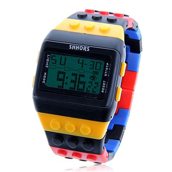 Fashion watch elegant brand SHHORS Multi-Function Green LED Sport Watch with Silicon Watchband Lover gife relojes multi function green