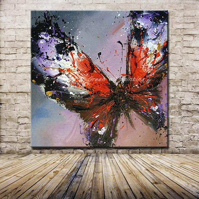 100 handmade modern abstract butterfly oil painting on canvas