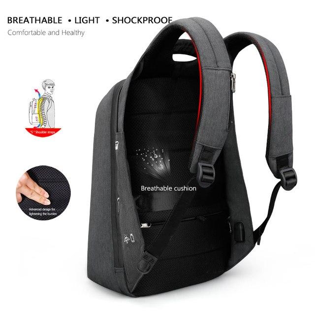 Tigernu Men Fashion 15.6 inch Anti theft Waterproof Business Laptop Backpacks Casual Male School Backpacks GrilsSchoolbag 4