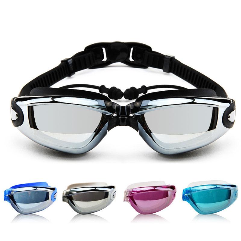 Плавательные очки практичный для взрослых противотуманный Дайвинг 4 цвета Поликарбонат пляжные очки Зеркало для плавания долговечный бассейн