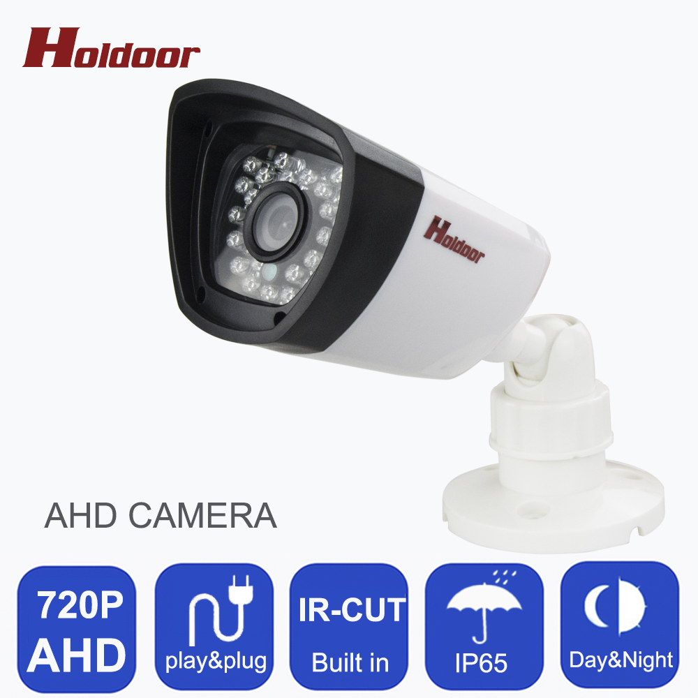 AHD 720P CCTV Camera 24pcs LEDS Security Surveillance Indoor IP65 Waterproof IR-CUT Filter Night View ABS Housing  Bullet Camera 720p ahd coaxial 360degree fisheye panoramic hd surveillance camera cctv camera module security indoor ir cut dual filter switch