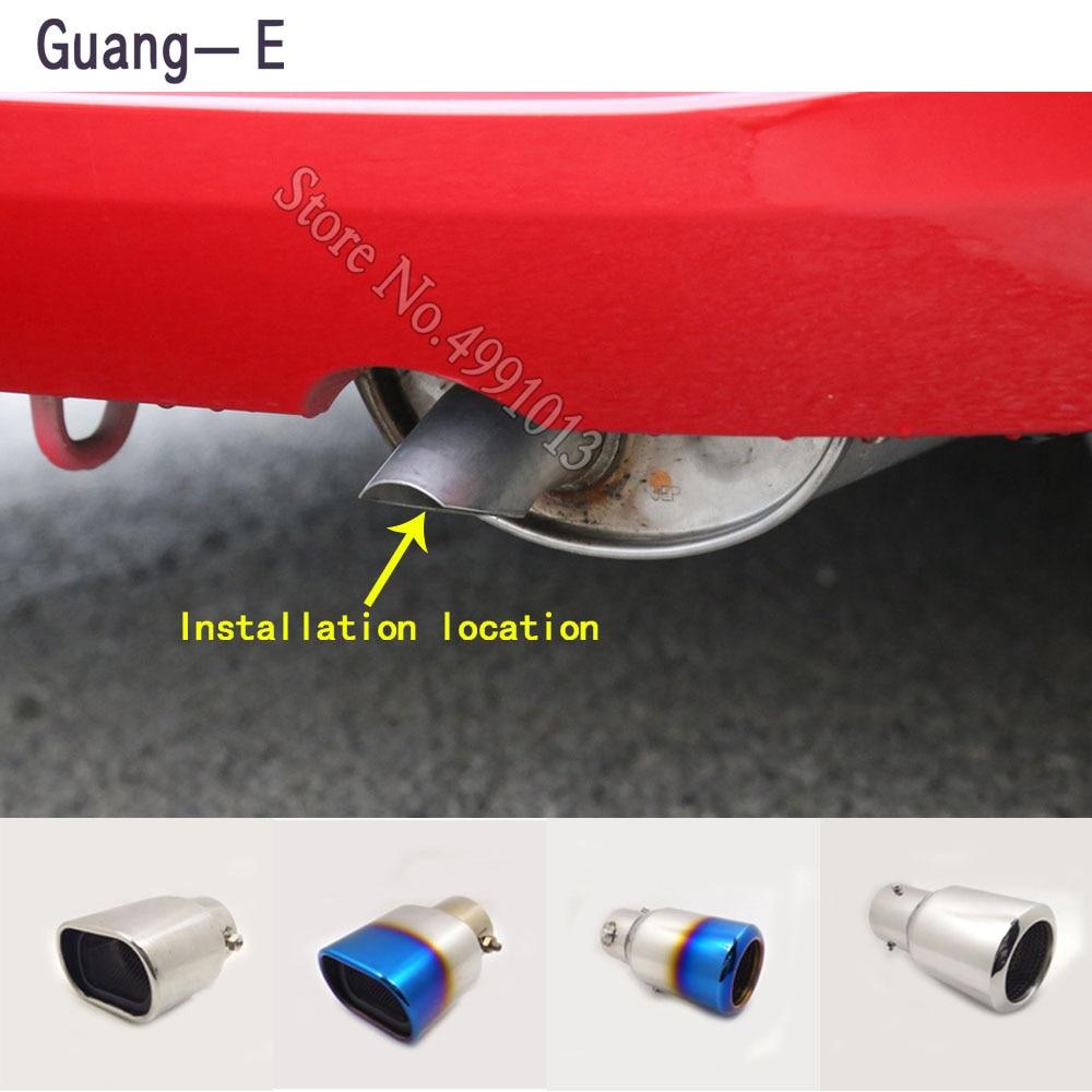 Rear Exhaust Pipe Trim Tip Muffler End Steel Chrome For Honda Civic 9TH