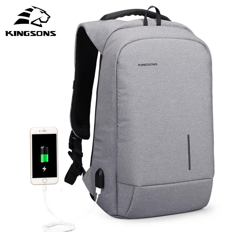 Kingsons Anti-vol À Dos de Téléphone Sucker Portable Sacs 13''15'' USB De Charge Backapcks Sac D'école