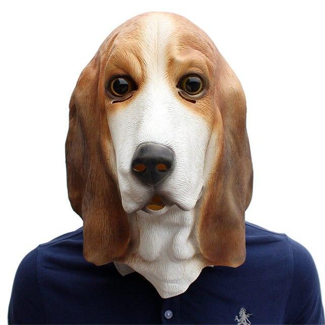 Новинка 2019 года маски для век Bassett товары собак животных Мода Унисекс латекс маска Высокое качество модные для вечерние мужчин маска праздн...