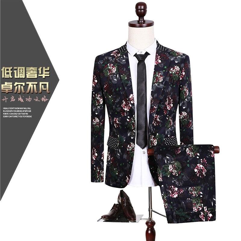 CCXO2017 costume masculin soirée banquet costume de mariage grande taille impression ville garçon