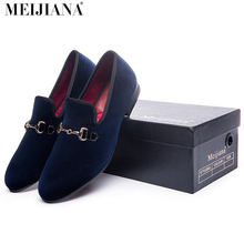 Men shoes luxury gold metal button loafers men blue gold loafers men Breathable shoes