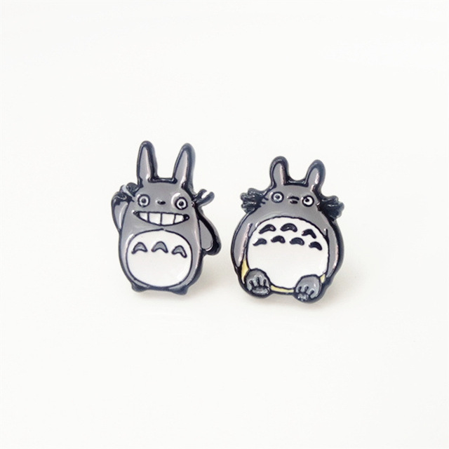 My Neighbor Totoro Enamel Stud Earrings